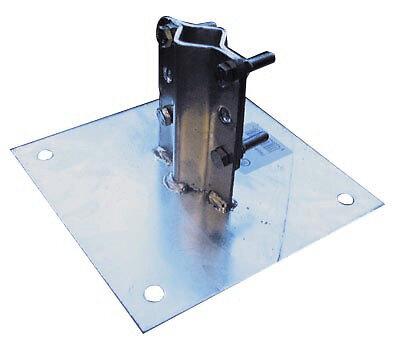 Fixation plaque de base acier galva pour mât diamètre 25-50mm