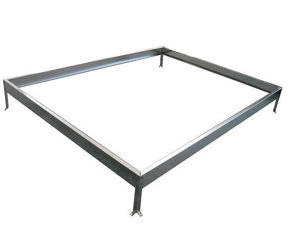 Base pour serre en aluminium 4.75m2