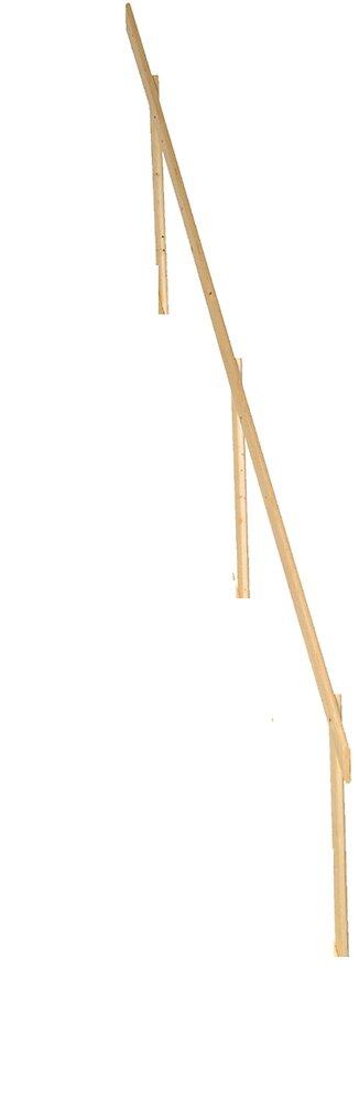 Rampe pour échelle de meunier en sapin - Longueur 3.34m