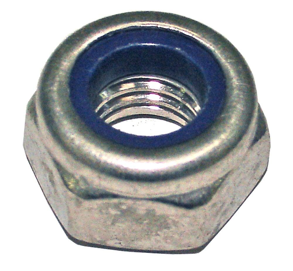 5 écrous indesserables acier zingué 10mm