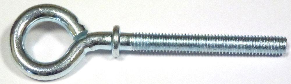 4 pitons à collerette filetée acier zingué 6x40mm