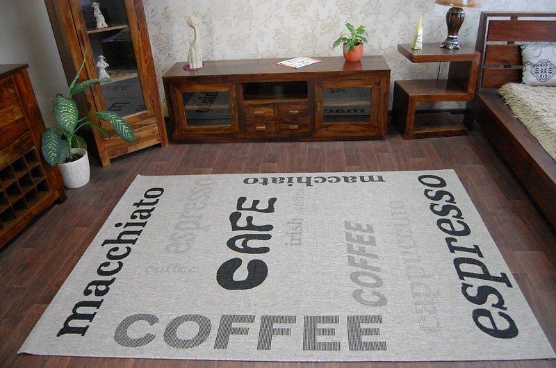 Tapis En Corde Sizal Floorlux 20223 Argentin  / Noir 160x230 Cm