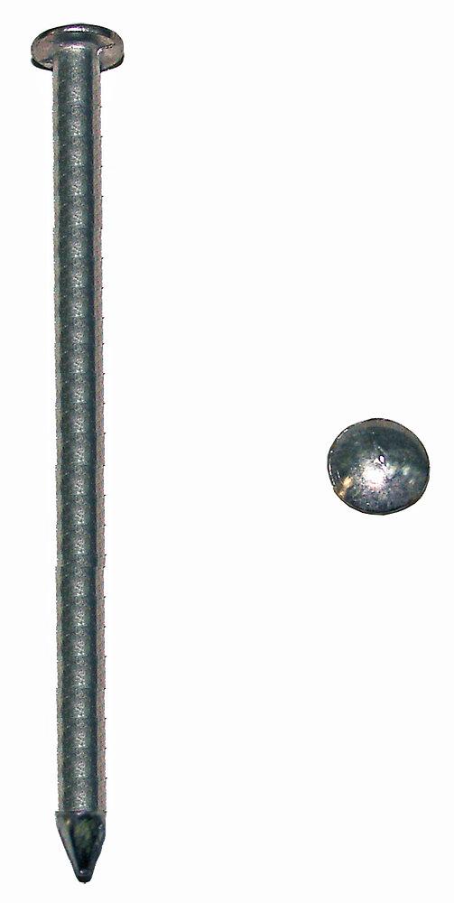 1kg pointes tête plate acier zingué 4.5x100mm