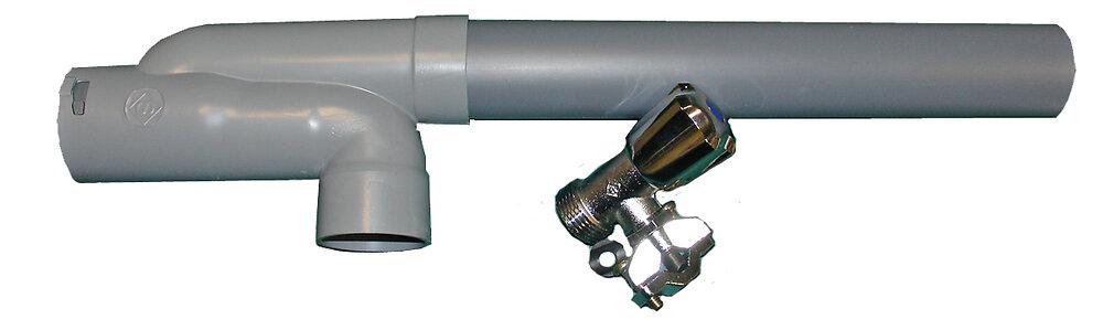 Kit siphon machine à laver + robinet autoperceur