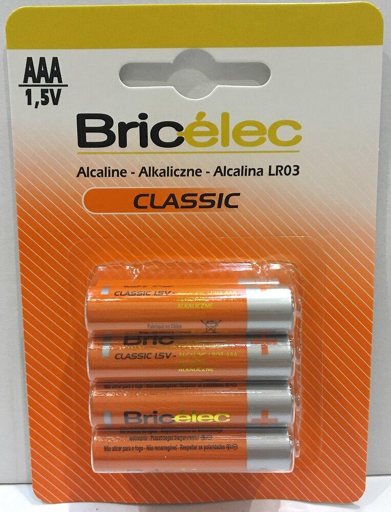 Piles alcalines lr03 x8 BRICELEC