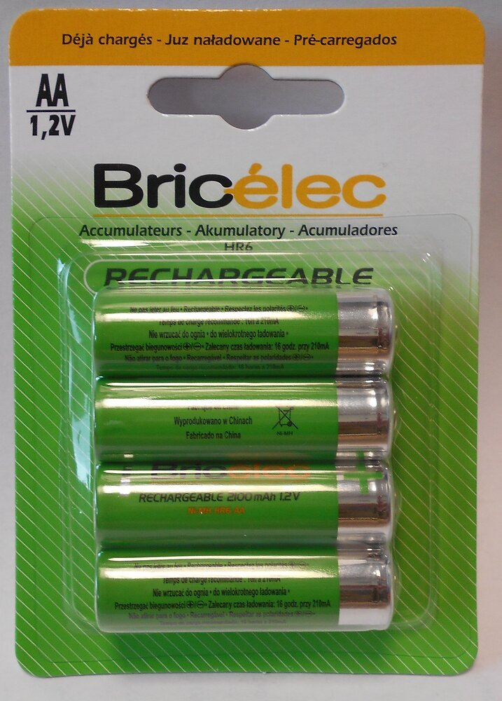 Accus hr6x4 RTU 2100mAh BRICELEC
