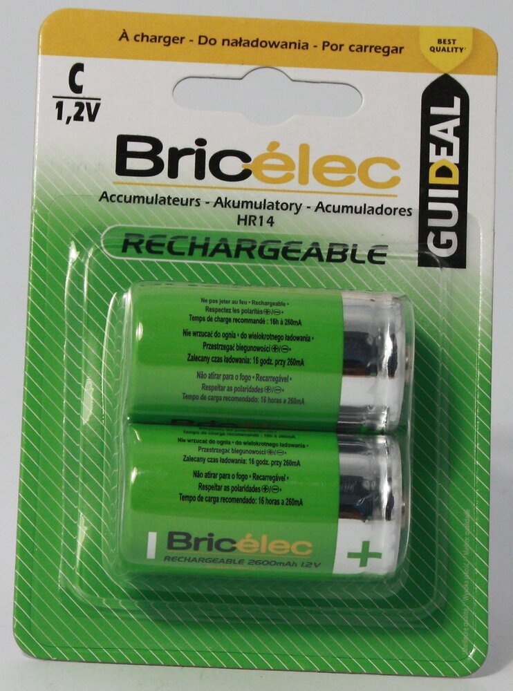 Accus hr14x2 2600mAh BRICELEC