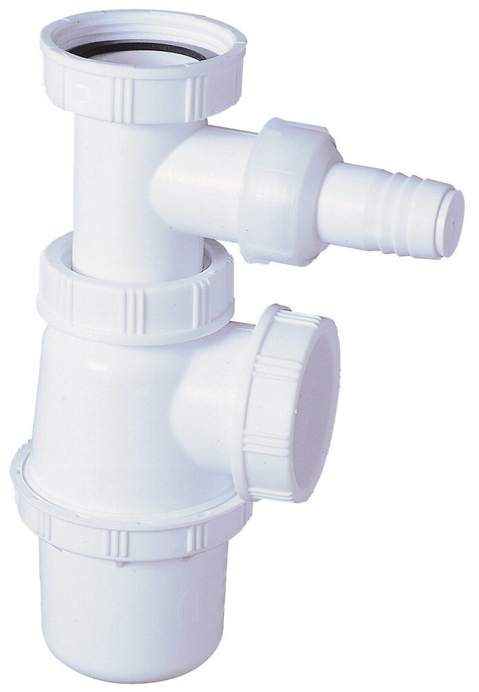 Siphon pour évier plastique prise machine à laver ECOUL