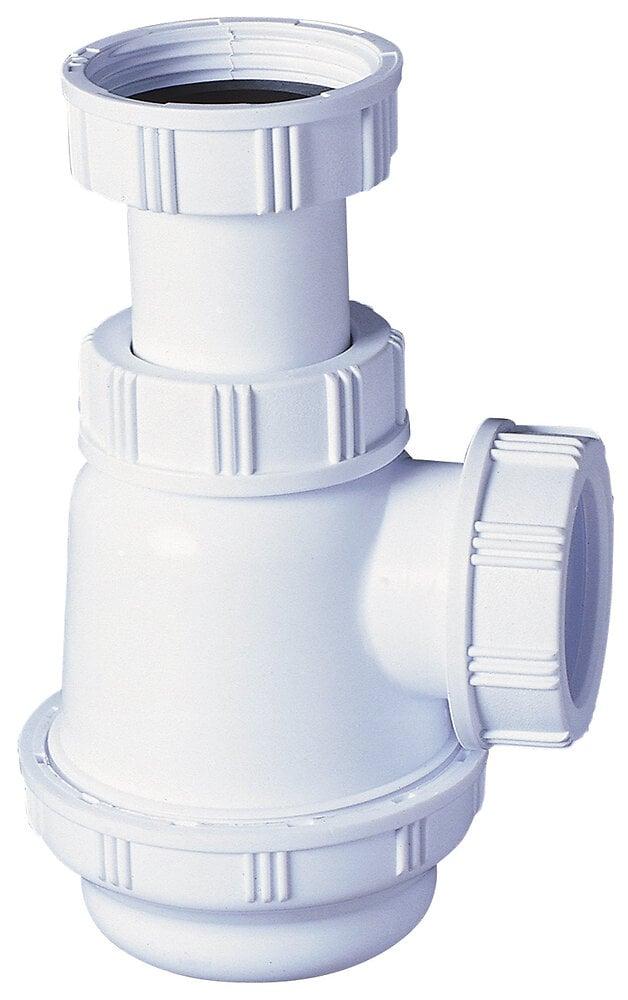 Siphon pour lavabo court 107/152mm garde d'eau
