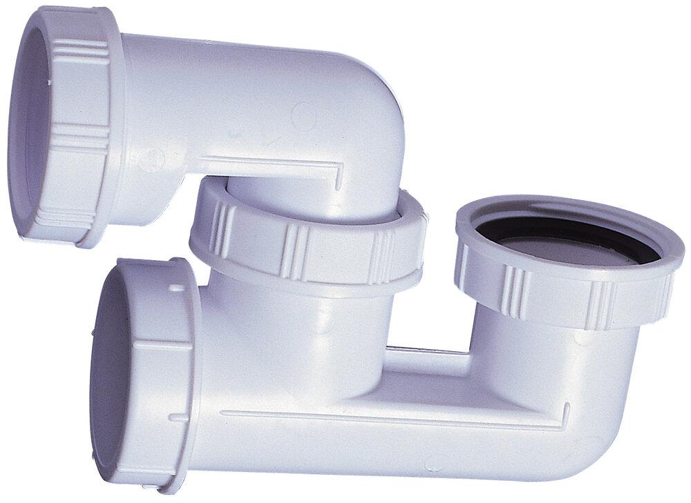 Siphon pour baignoire plastique orientable