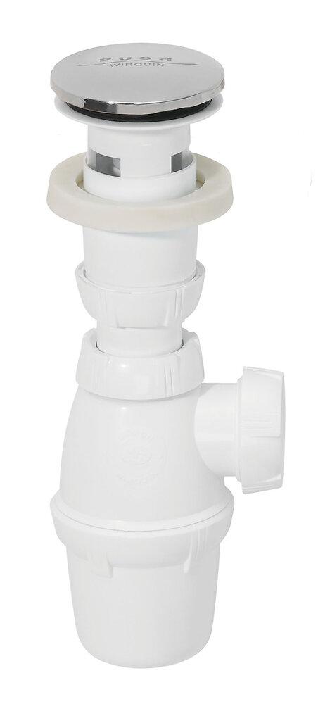 Ensemble siphon et bonde Quick-Clac pour lavabo COTEKA