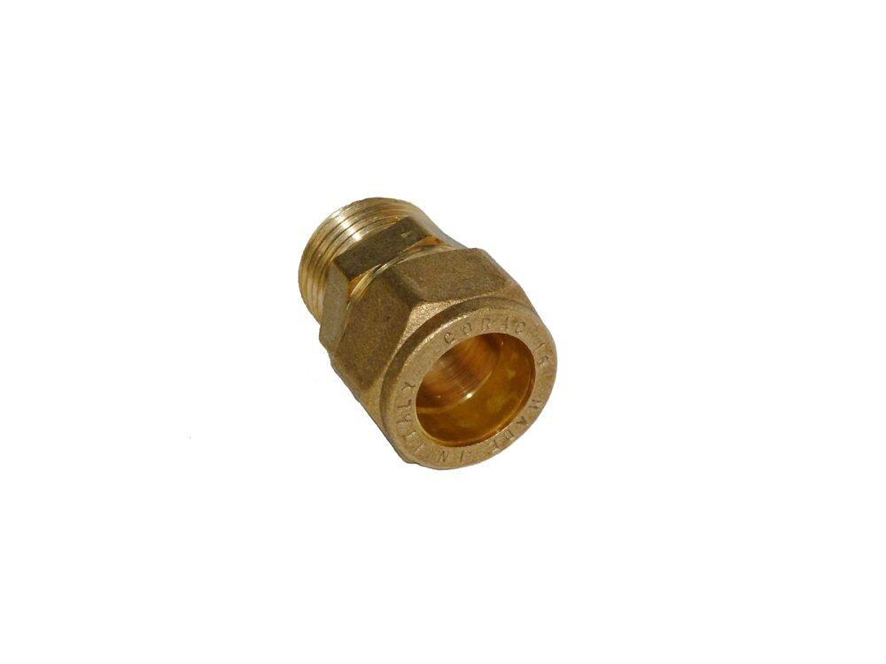 2 raccords droits pour tubes d14mm mâle 15x21mm