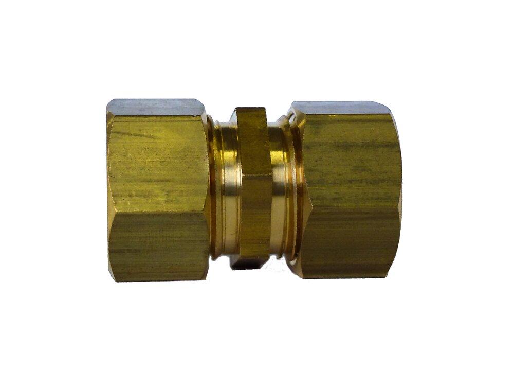 Raccord égal pour tubes d16mm écrou 20x27mm