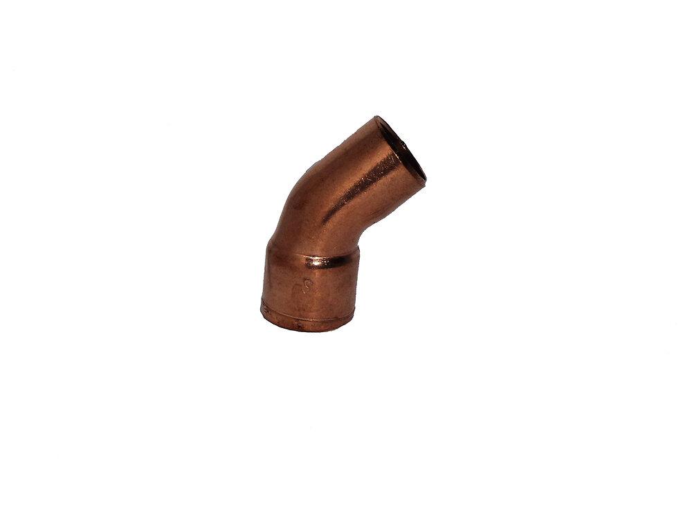 2 coudes à 45° pour tubes d16mm