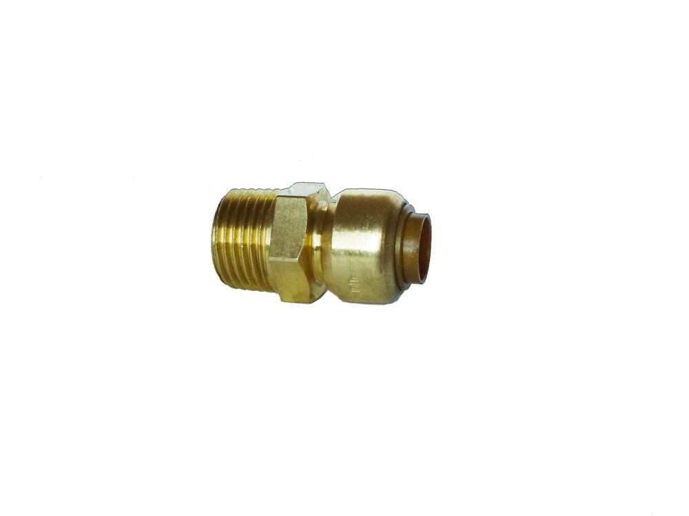 Raccord droit à visser pour tubes d16mm mâle 15x21mm COTEKA