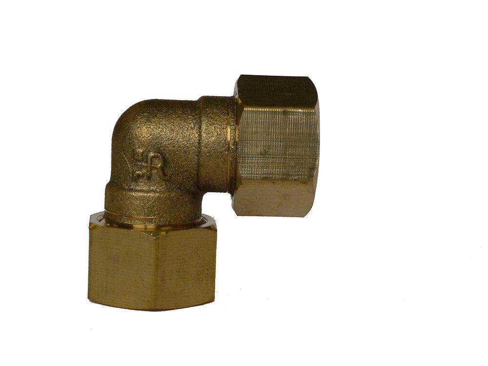 Coude + écrous pour tubes d18mm écrou 20x27mm