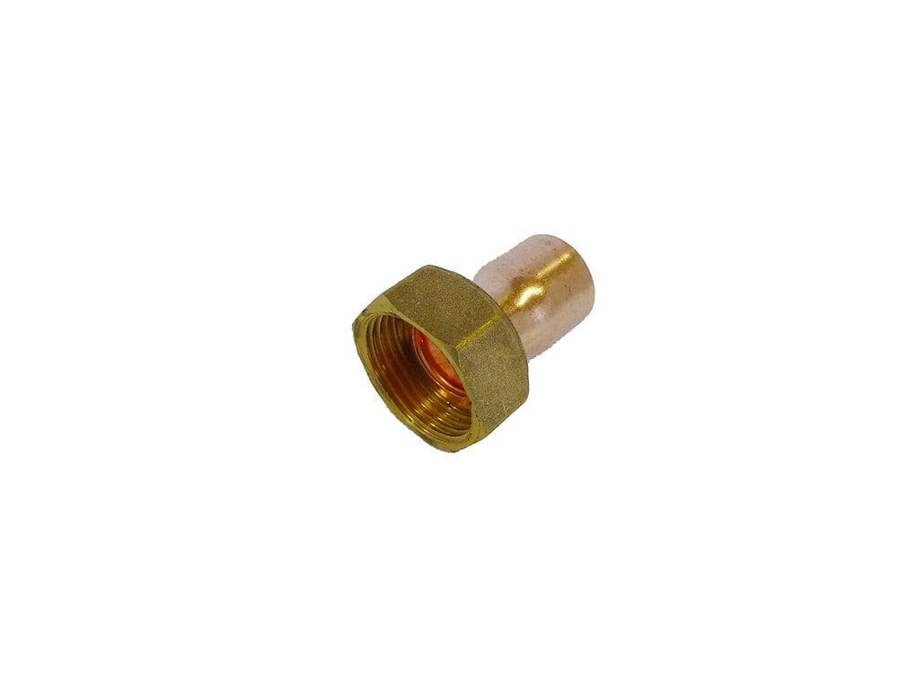 Sach 2 raccords droits avec écrous pr tube d14mm écrous 20x27mm COTEKA