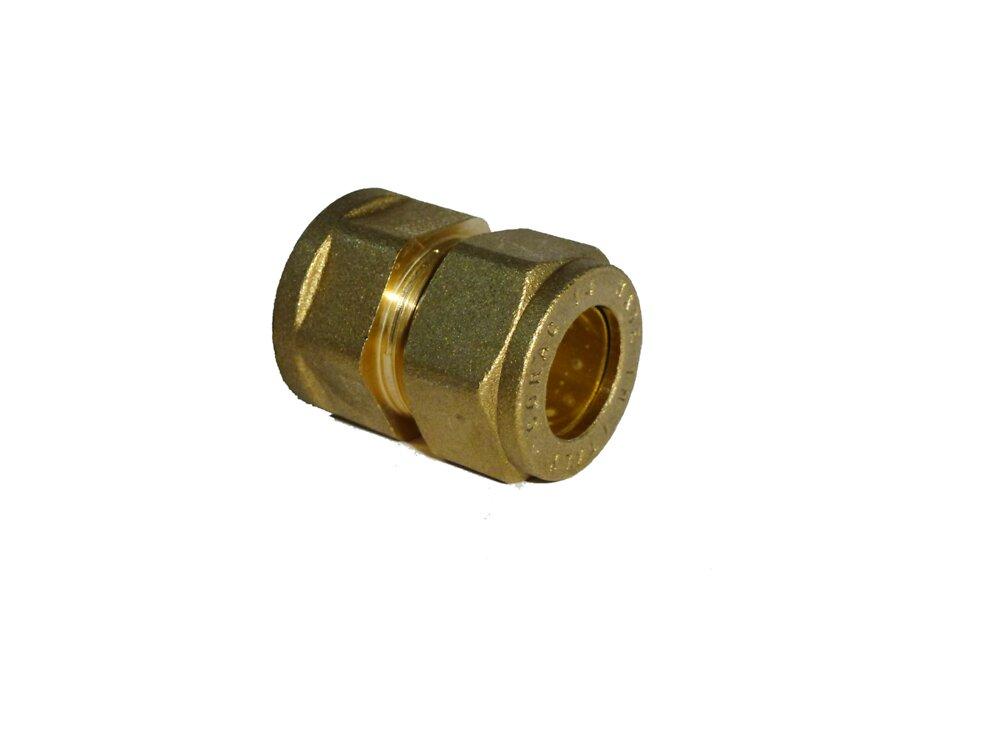 2 raccords droits pour tubes d16mm femelle 15x21mm