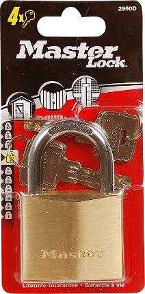 Cadenas à clé laiton massif 50mm anse d.8xh.30mm 6 goupilles