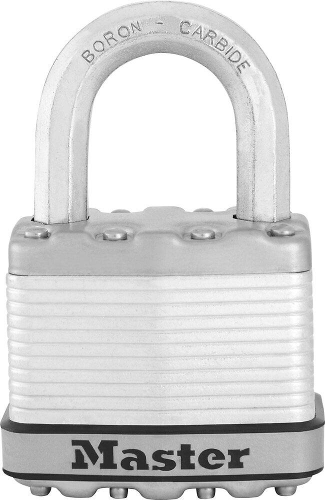 Cadenas à clé acier laminé 52mm anse octogonale d.9xh.25mm 4 goupilles