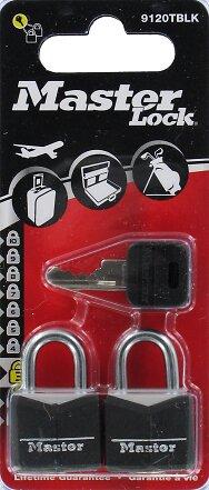 Cadenas à clé aluminium noir 20mm anse d.3xh.11mm 3 goupilles