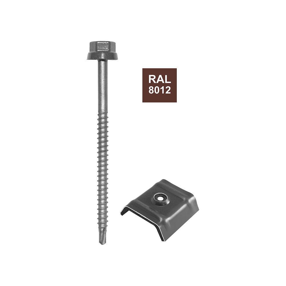 Vis + cavalier rouge 8012 pour fixation bac acier