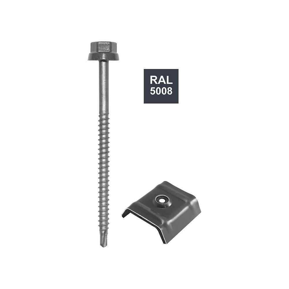 Vis + cavalier bleu 5008 pour fixation bac acier