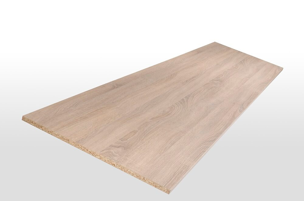 Tablette mélaminée chêne brut 120x30x1.8