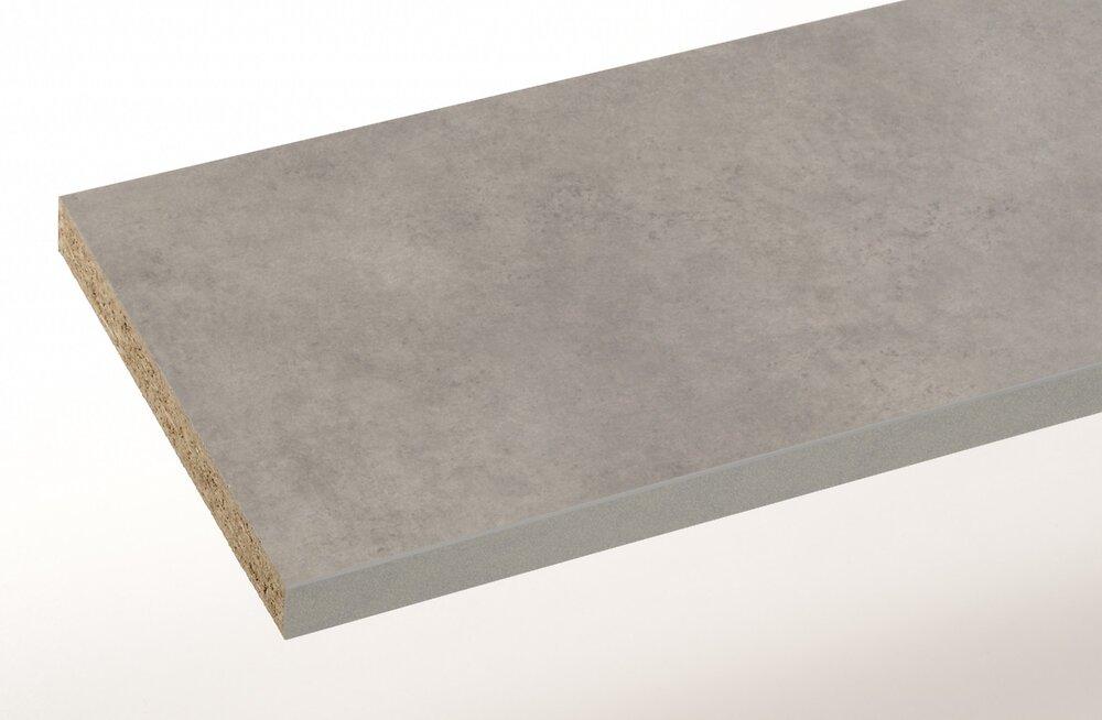 Plan de travail stratifié copperfield gris 120x64x3.8
