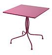 Table carrée en métal fushia