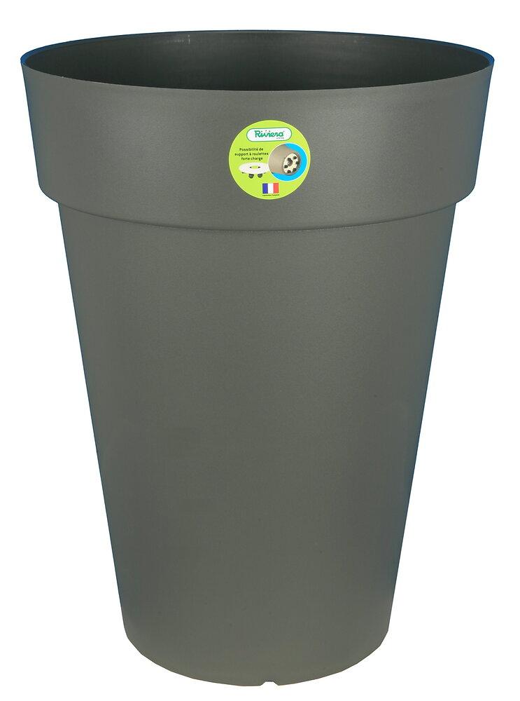 Bac Soleilla rond diamètre 40cm coloris gris 37 litres