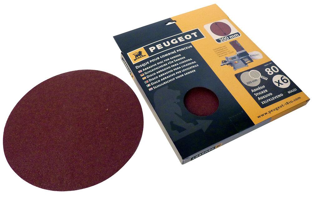 Disques abrasifs autocollant PEUGEOT combiné ponceur x6 200mm