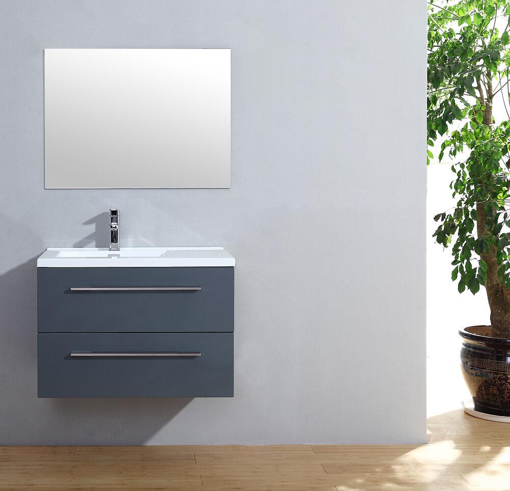 Meuble salle de bain Cascade 80 gris